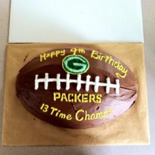 Green Bay Packer Football Cake