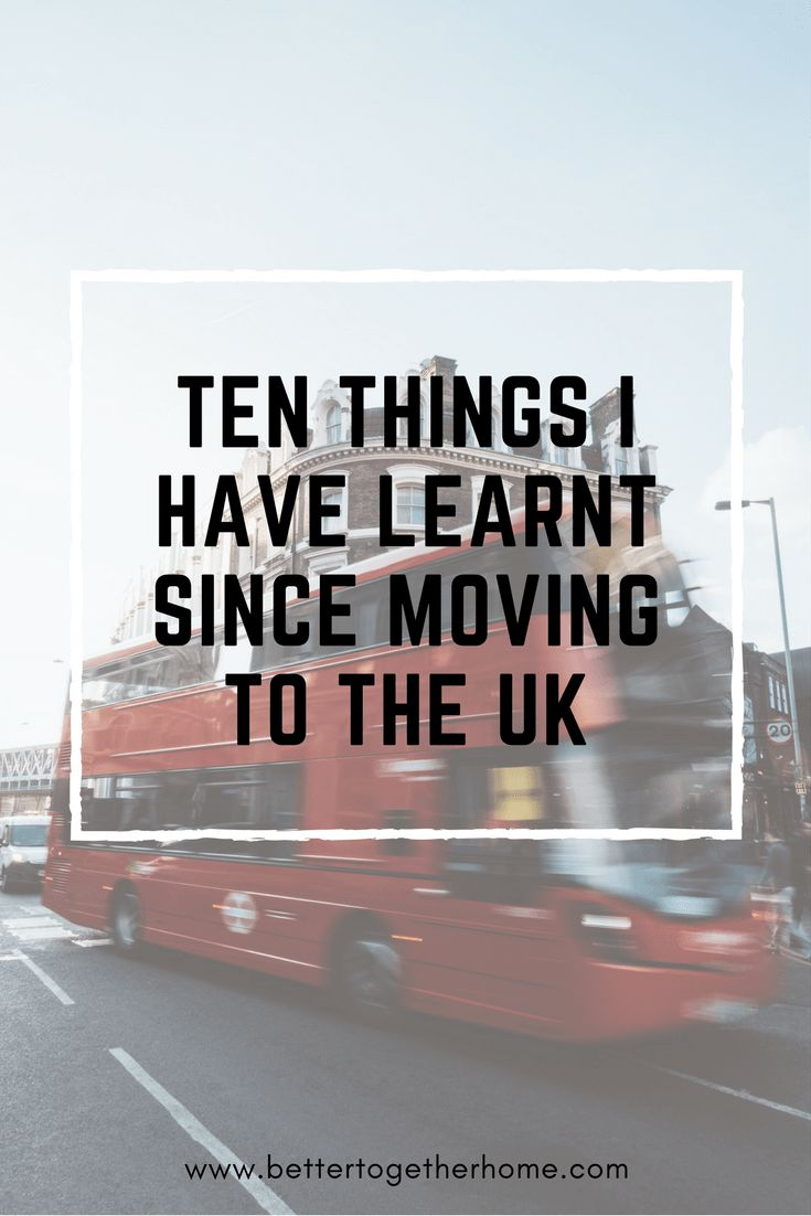 My first guest post ever! 10 Things I have learnt since moving to the UK