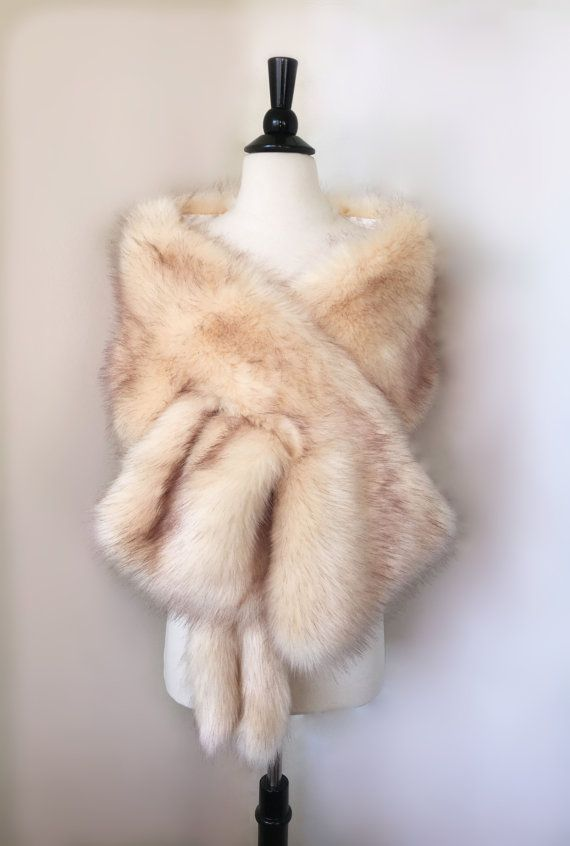 High quality faux fur bridal wrap, perfect for brides, bridesmaids and events wears. The fur is really soft, 100% looks like the picture. Two ways of wearing it, wrap about the shoulder or wear on arms. 64 inches x 11 inches.  Fit to all sizes  Look the best for US size 0 - 10. And we can also make your size!  Color : Picture color Processing time: 2 Days Delivery Time: Shipping to USA 2-3 Workday Other countries 8 days. Tracking number provided  **********************************  Welcome…