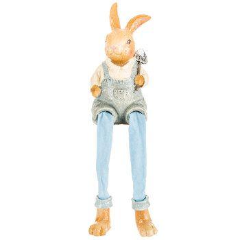 Bunny Shelf Sitter with Shovel