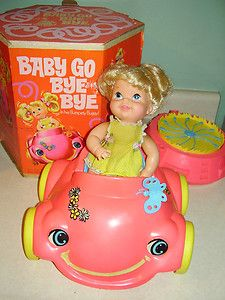 baby go bye bye w/ bumpety buggy car | C1968 Mattel Baby Go Bye Bye w Bumpety . Remember this fondly, especially the blue butterfly