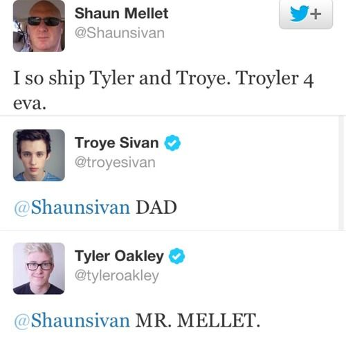 Troye's dad is the best