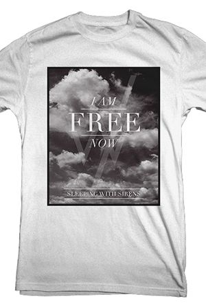 I am free now from the only official sleeping with sirens merch store t