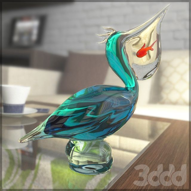 Статуэтка пеликан