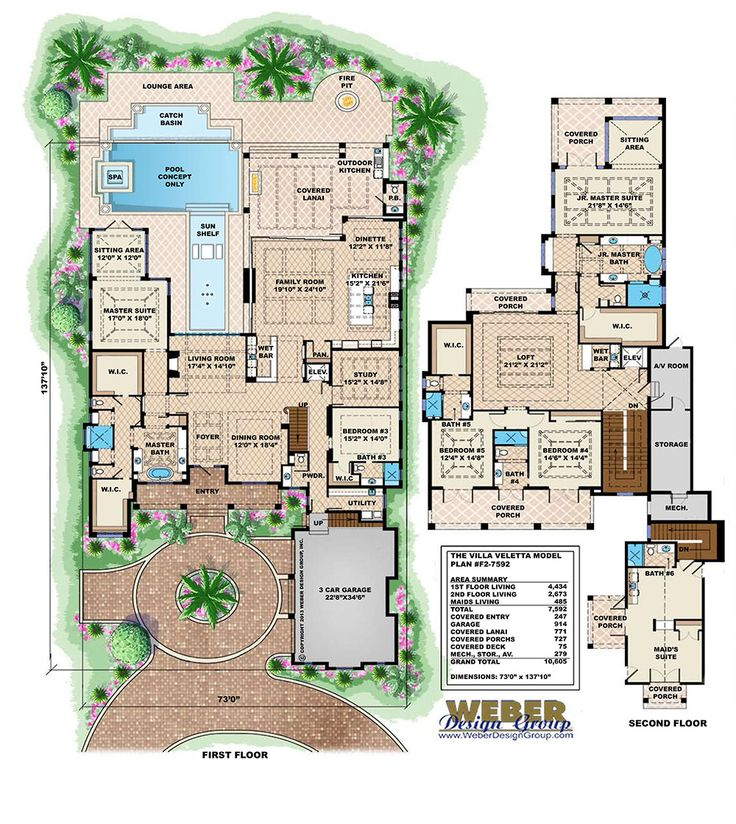 Home Mediterranean Homes Dream: Tuscan House Plan: Luxury Mediterranean Dream Home Floor