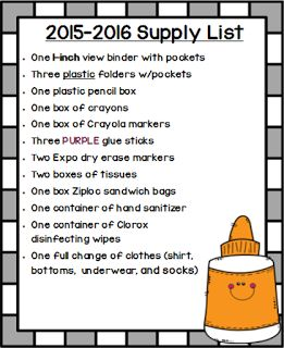 Classroom Supply List for a Special Education Classroom