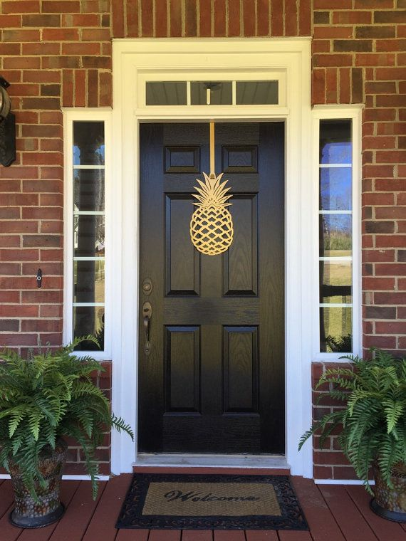 $65 - Pineapple Front Door Wreath 20 Tall Metal over by housesensations - Etsy