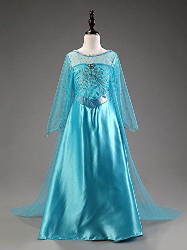 Elsa Snow Queen Costume Dress Disney Frozen Inspired Girl CosplayParty 4-14Y (4 (110CM)) Daily Proposal http://www.amazon.com/dp/B014B443VW/ref=cm_sw_r_pi_dp_71r6wb1SESF6G