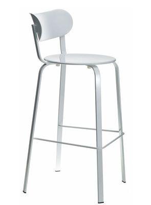 Chaise de bar Stil / H 75 cm - Métal Métal laqué blanc - Lapalma