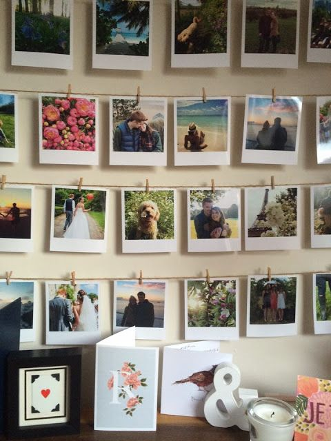 Roses and Rolltops : Makeover - Instagram Polaroid Photo Wall