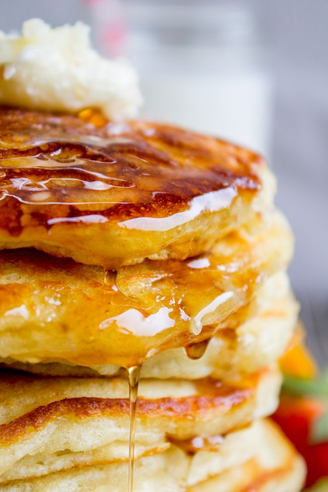 This Pinner's not even kidding when she says she's been looking for this buttermilk pancake recipe for her entire life. They are fluffy, crispy on the edges, tender in the middle, and completely stackable. The search is over!!