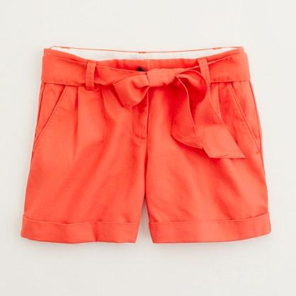 linen bow short: Style, Dream Closet, Color, Spring Summer, Linens, Bows, Coral Shorts, Bow Shorts