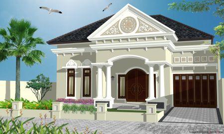 rumah mediterania sederhana