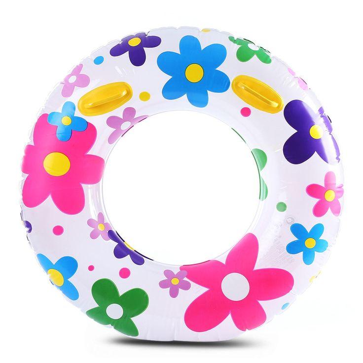 Inflatable Stylish Swim Tube Swimming Ring Flower Design Inflatable Floats pool Swimming Float For Women