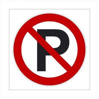 Verboten! Parken verboten Schild! Ausfahrt freihalten, Parkverbotaufkleber