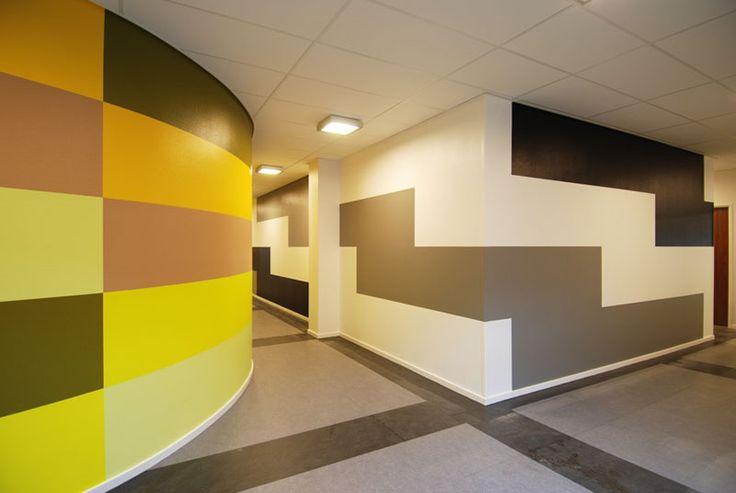Jan van der Ploeg, Wallpainting, Hospital, Acryl auf Wand, Rotterdam, 2011