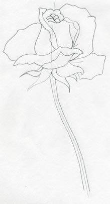 ღღ How To Draw a Rose - very easy and simple!