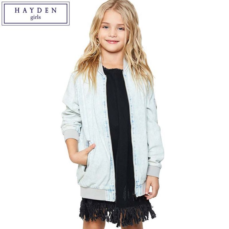 >> Click to Buy << HAYDEN Girls Flower Embroidery Jacket Kids Jeans Denim Baseball Jacket Teenage Girls Jackets and Coats for 2017 Spring Autumn #Affiliate