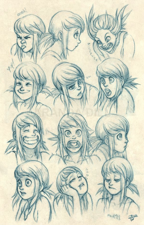 Today's Drawing Class: Drawing Cartoons and Caricatures | Azure Expressions by ArandaDill.deviantart.com on @deviantART