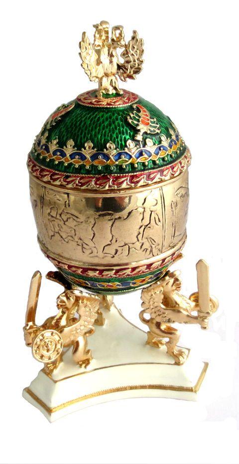 a83ab55ff2 Copie oeuf de Fabergé vert - Fleur contenant un pendentif | Travel Russia |  Pinterest