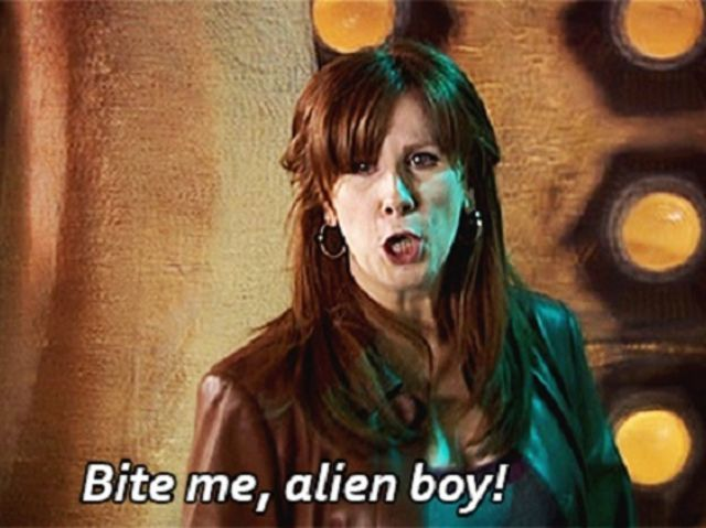 "You are Donna Noble! --You have a great sense of humor, and come off a little strong at times. That just makes you a great companion. You started off as a temp worker and were engaged, until an alien kills your fiance'. Not to worry, your ""best mate"", the Doctor, was there to save you and take you all over the Universe. In the end, you forget the Doctor in order to save his life. -- Well, that last part was completely unnecessary..."