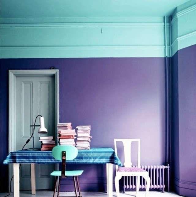 oltre 25 fantastiche idee su pareti viola su pinterest | pareti ... - Disegni Su Pareti Soggiorno 2