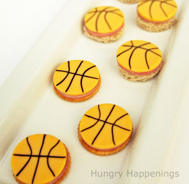 Basketball cheese & crackers