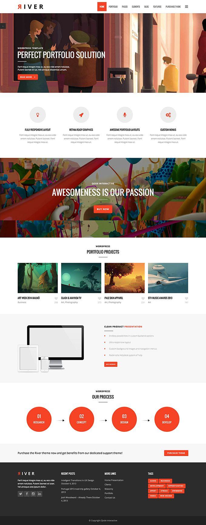 River - a multi purpose theme for WordPress