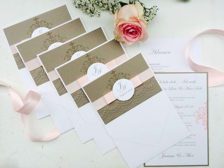 Hochzeitseinladung, handgemacht, Pocketfoldkarte, Einladung zur Hochzeit, Sandra Kolb, www.samey.de