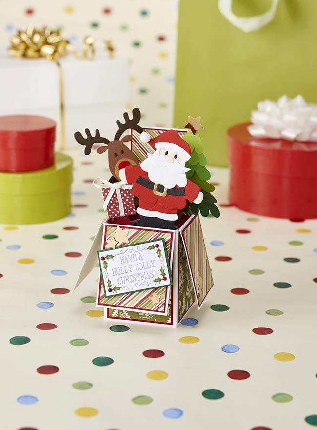 Santa exploding box card from Papercraft Inspirations issue 146 (free printable)