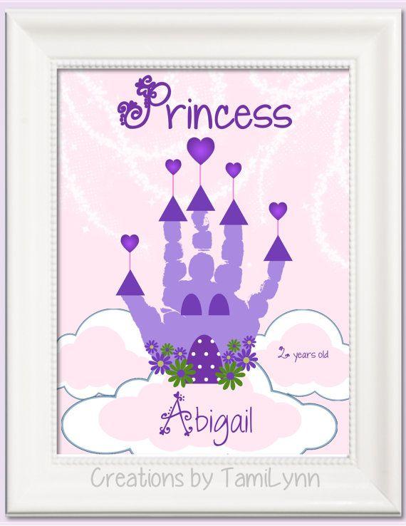 Prinzessin Türschild mit Handabdruck