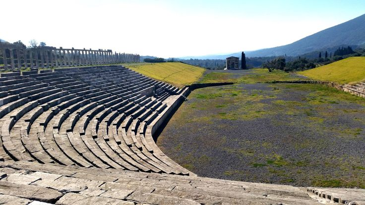 Ancient Messene - Τhe stadium and the mausoleum #ancientmessne #peloponnese #ancent #messene #greece #history #culture