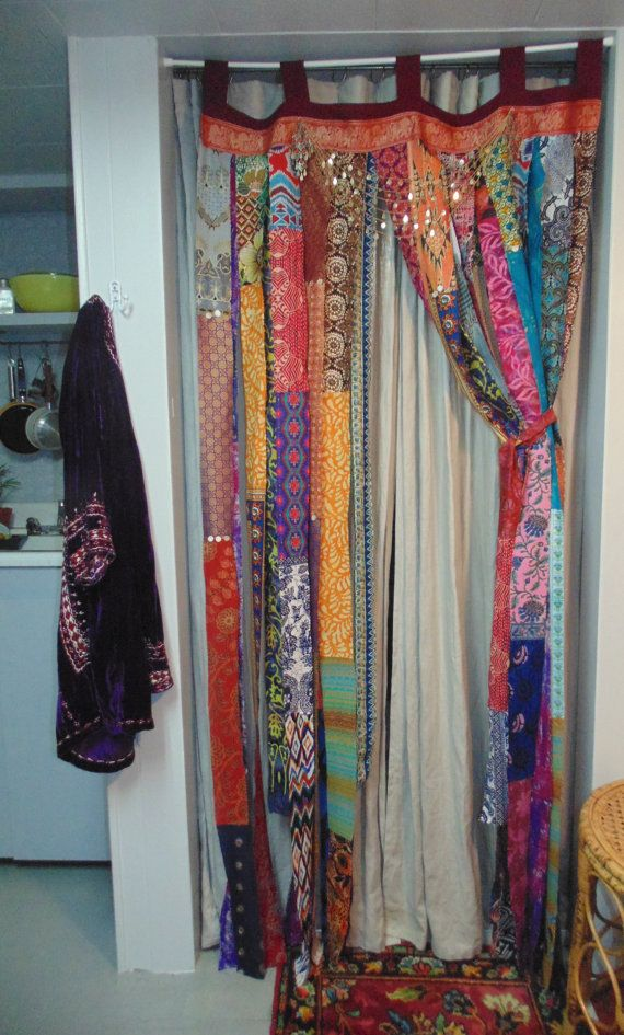 TAKING Custom Orders-Bohemian Dream bright ethnic fabric door by TheSleepyArmadillo www.thesleepyarma...