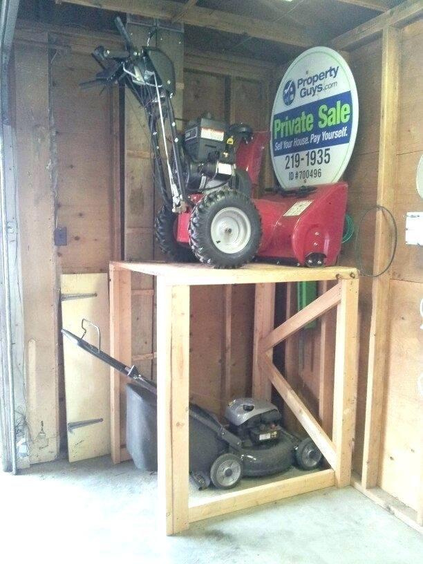 Exceptionnel Lawnmower Storage Ide Lawn Mower Shed Plans Garage Lift Garden Box