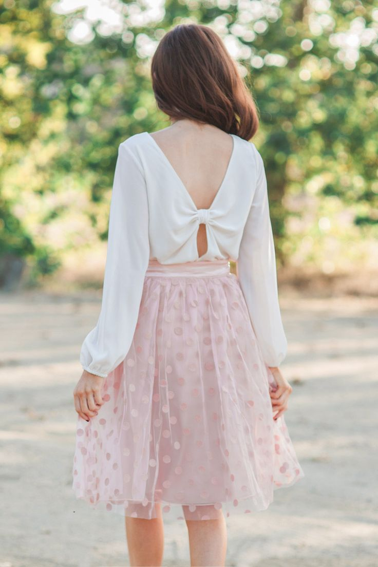 Cute blouses, bow back, feminine fashion pieces, flirty outfit ideas, date night out outfit ideas, Morning Lavender