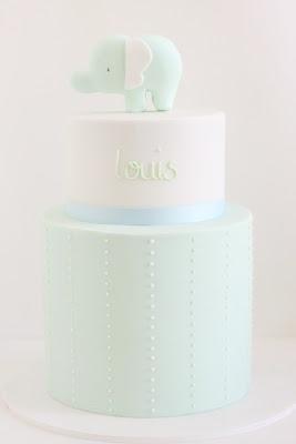 baby boy elephant cake  {Hello Naomi} loool the other name!