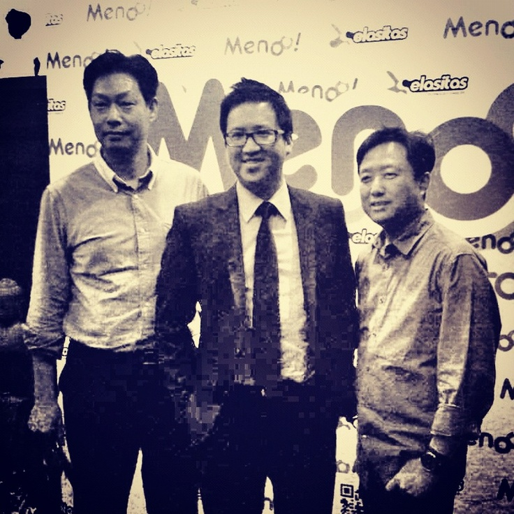Edward, Ben & me on Menoo launching