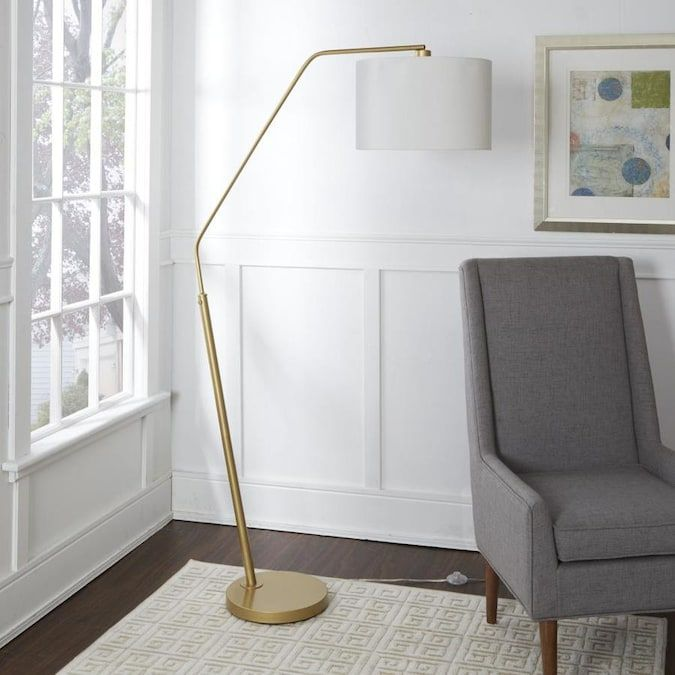 Cheyenne Products 68 25 In Gold Arc Floor Lamp Lowes Com In 2020 Gold Floor Lamp Arched Floor Lamp Floor Lamp