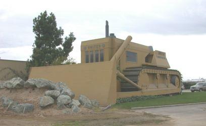 Giant Tractor Building in Turlock, California