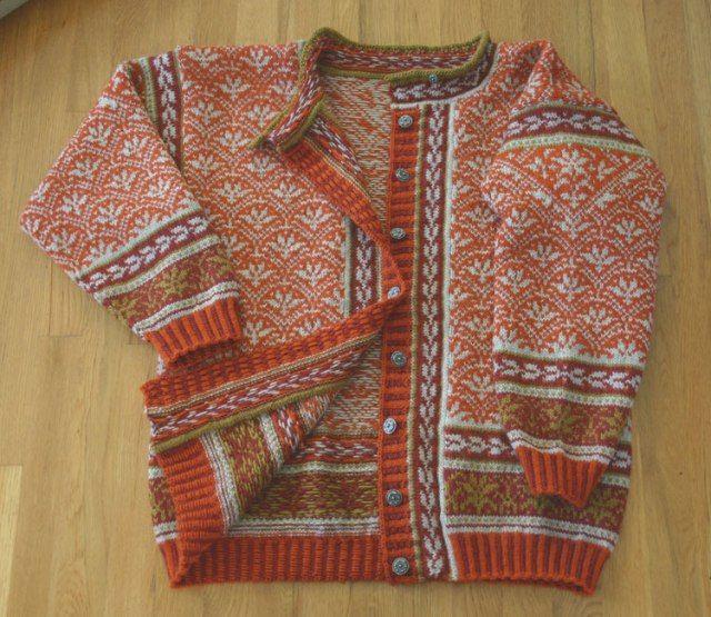 Norwegian knit cardigan