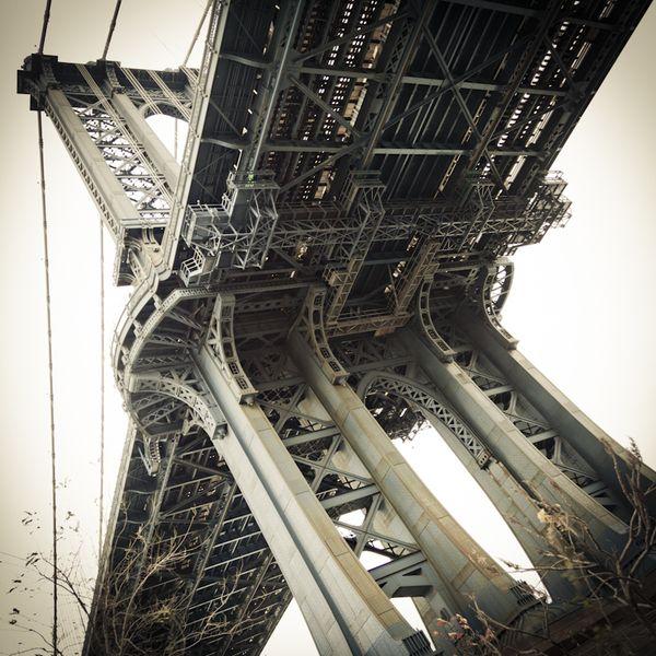 NYC. Manhattan Bridge. Brooklyn Riverside by Matt Mawson, via Behance