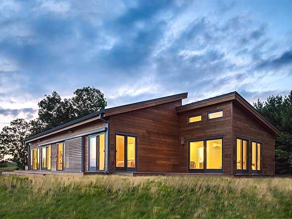 184 best houses container shed modern contemporary for Frank lloyd wright modular homes