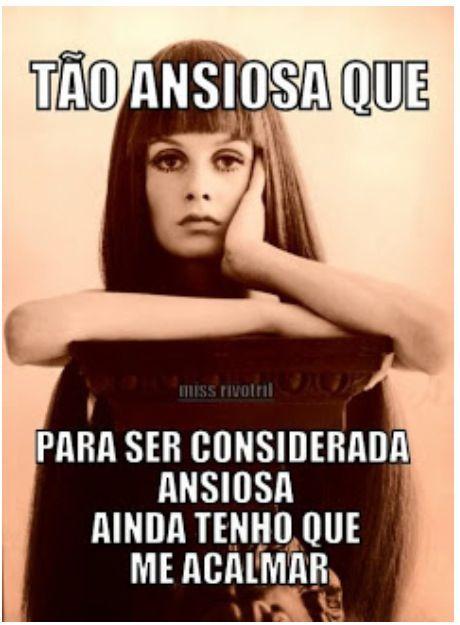 Mãe da ansiedade. Rainha da ansiedade. Ansiedade aqui gritaaaaa! http://sosdepressao.com