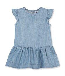 Jurkje van licht denim voor babymeisjes blauw Jean - Petit Bateau