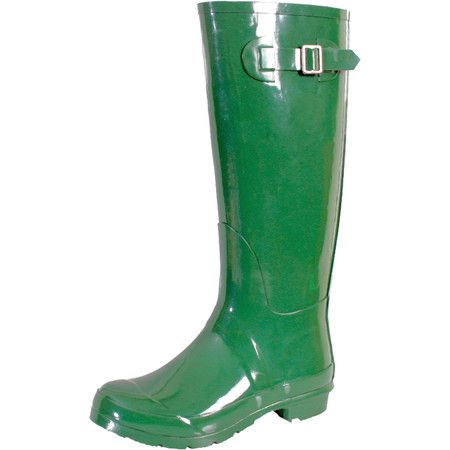 Bring a stylish touch to stormy days with these bold rain boots, showcasing rubber outsoles and an eye-catching green hue.  Product:...