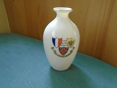 Ww1 the triple #entente crest + flags - vase - w #british made #crested china,  View more on the LINK: 	http://www.zeppy.io/product/gb/2/351816681388/