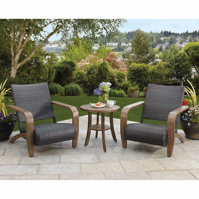 Brown Jordan Outdoor AllWeather Wicker Adirondack Patio Porch Seating Set     Locate The Offer Simply By Clicking The Image Part 58