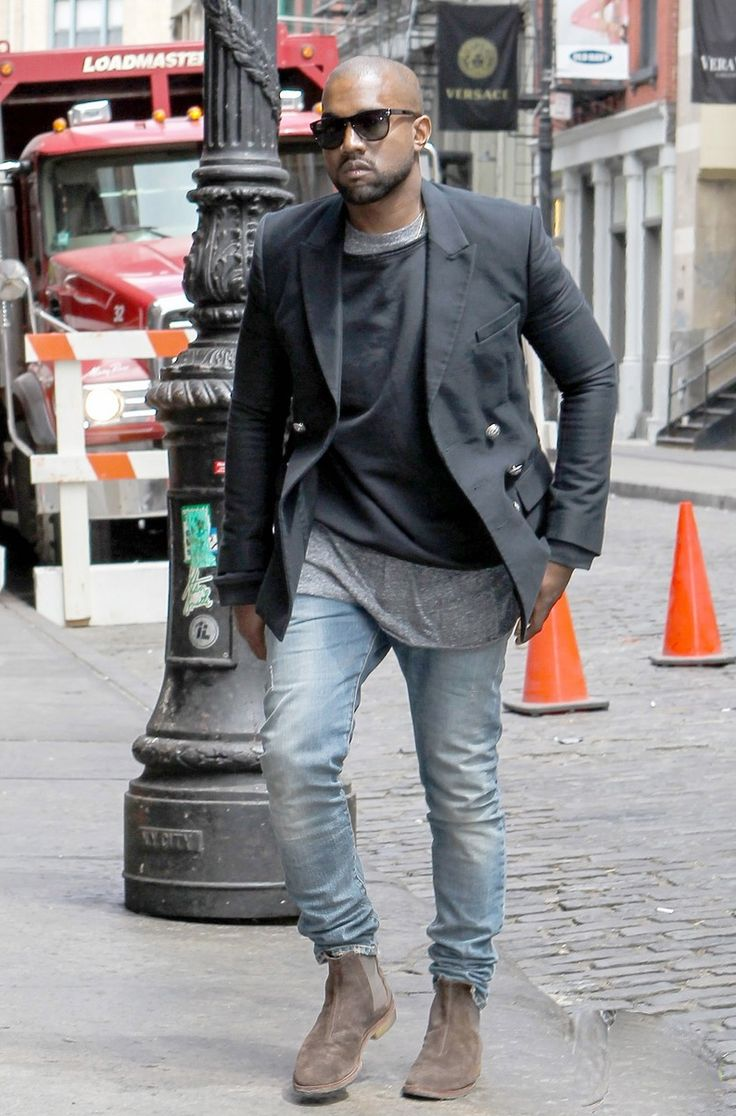 Boots Celebrities Styles Kanye West Men S Fashion Chelsea