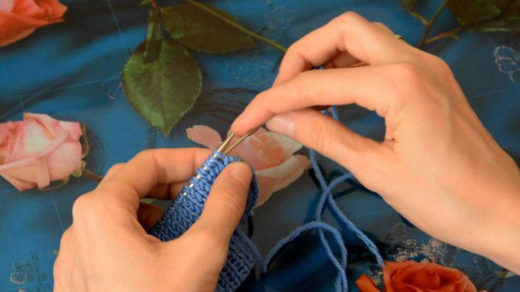 Закрытие полой резинки иглой (Обшитый край)