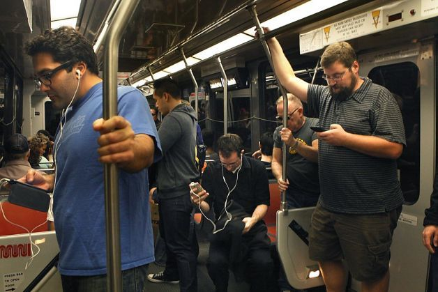 A troubling article about the fact that we get so obsessed with our smartphones sometimes, we don't notice important things going on around us. One guy on the subway was wielding a gun and no one noticed. When you're on your commute or walking to/from work, try to be aware of what's going on around you. Let's stay safe out there! http://www.sfgate.com/crime/article/Absorbed-device-users-oblivious-to-danger-4876709.php